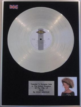 KYLIE MINOGUE - Platinum Disc  - 'Kylie Minogue'